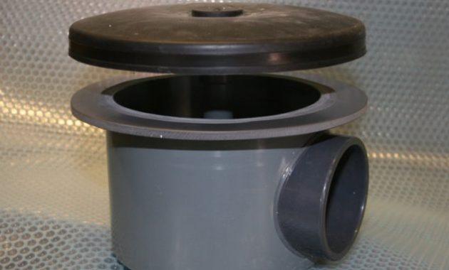 bottom drain untuk filterasi ikan koi
