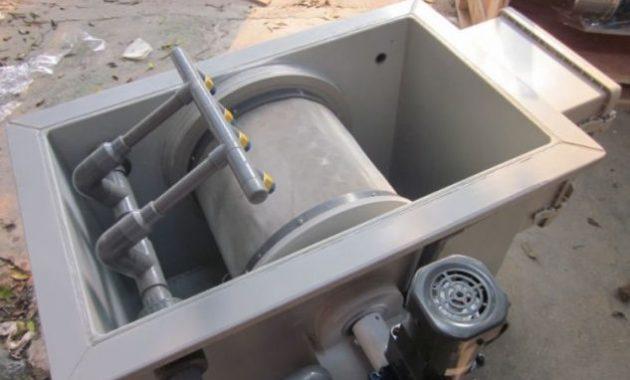 rotary drum filter alat filter koi canggih