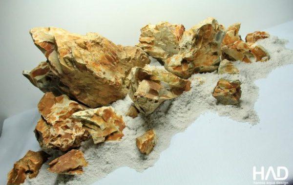batu fosil untuk membuat konsep aquascape