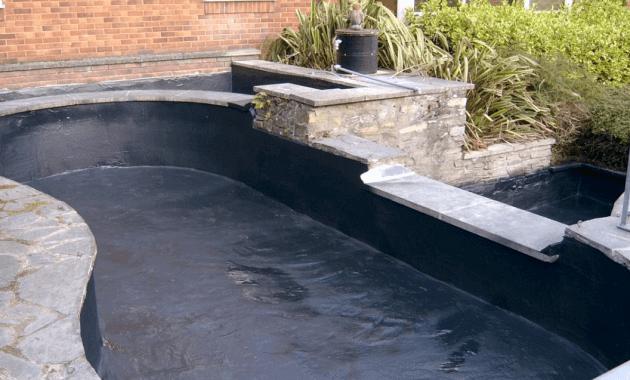 contoh desain kolam koi minimalis yang dasarnya dibawah permukaan tanah